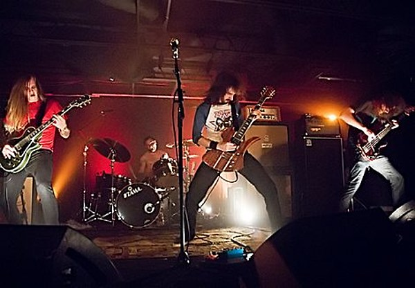 The Sword played an IFC party in Austin (pics), Au Revoir Simone & Vega DJ a free one in NYC ...