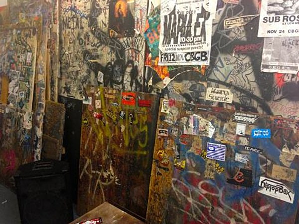CBGB's interior being reconstructed for CBGB Fest…. (Duff to give keynote speech in front of it)