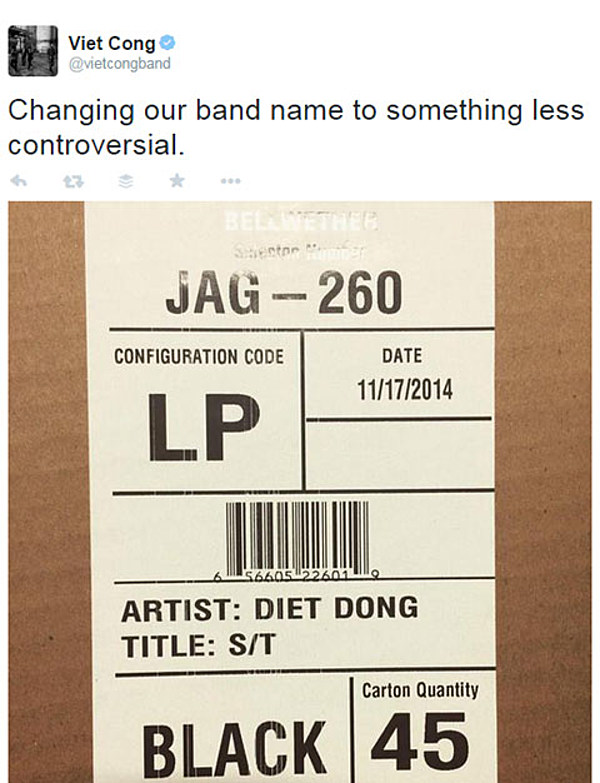 Gang of Four's Andy Gill weighs in on Viet Cong name debate
