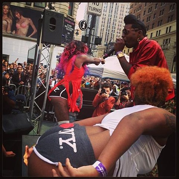 Big Freedia broke the World Record for twerking today in NYC