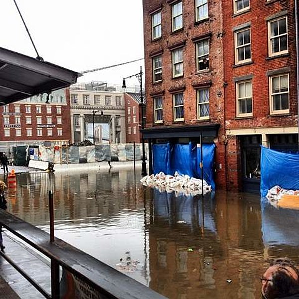 South Street Seaport Flooded Looted Lower East Side