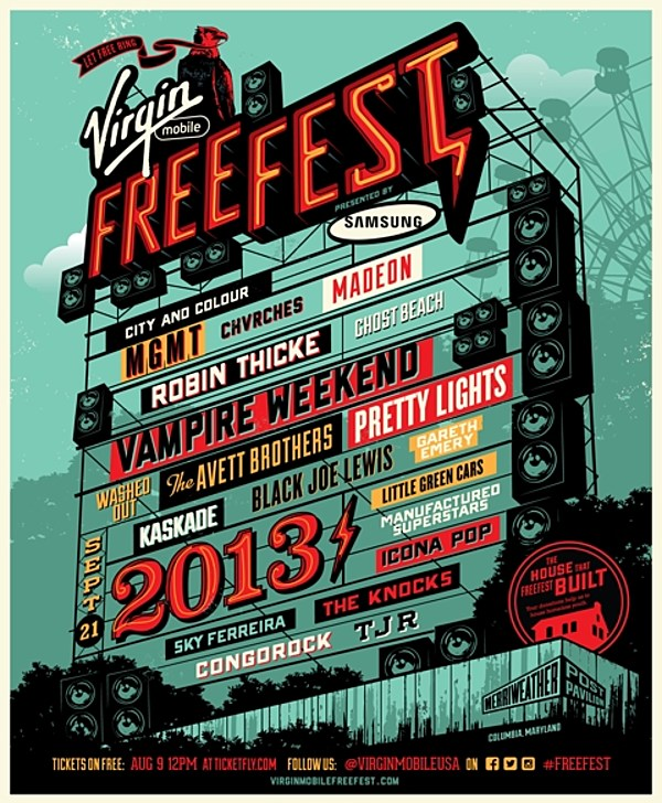 Virgin FreeFest 2013 lineup (MGMT, Vampire Weekend, Washed Out, Icona Pop, CHVRCHES more)
