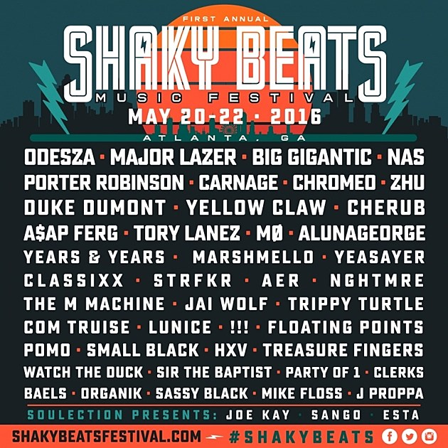 The Full Shaky Beats Lineup Is Here!