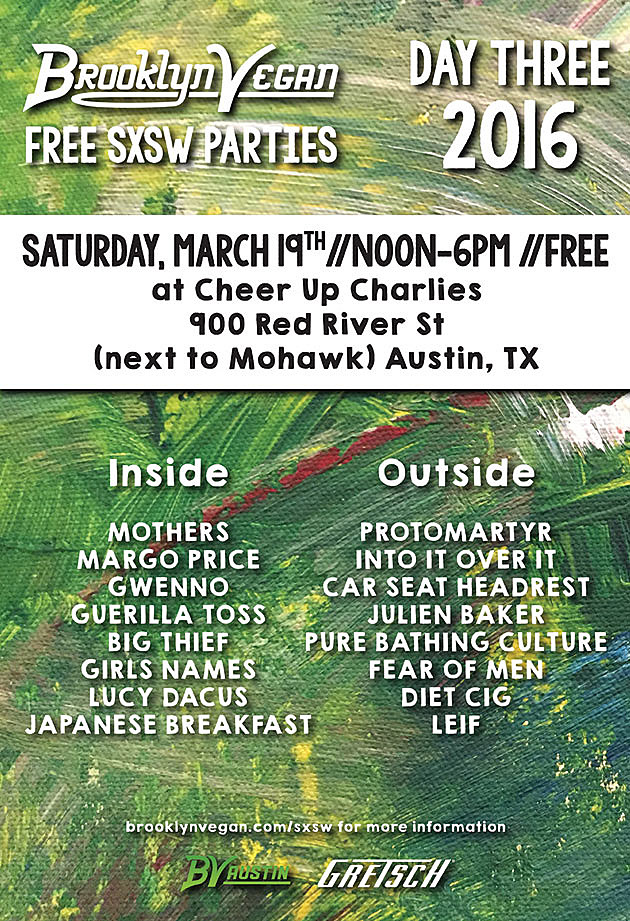 BrooklynVegan SXSW Saturday falyer
