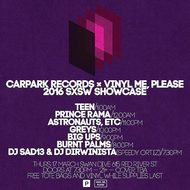 Carpark SXSW Showcase Flyer
