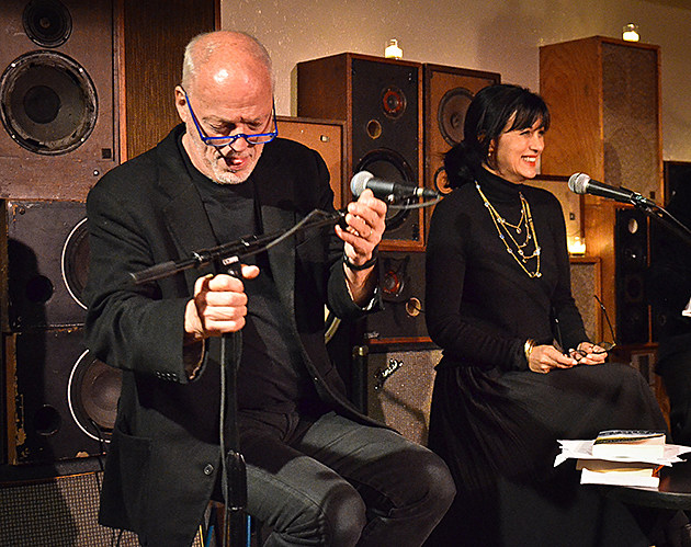 David Gilmour And Wife Polly Samson At Damian Barrs Literary Salon The Ace Hotel