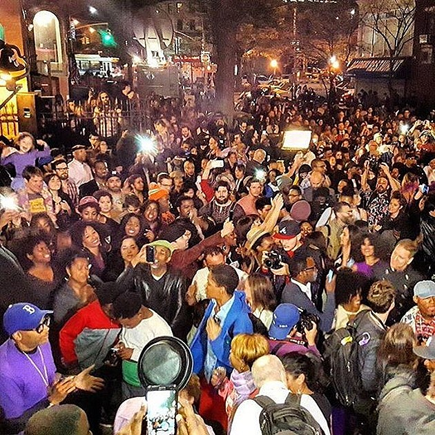 Spike Lee at Prince tribute block party (photo by @mz.melonie)