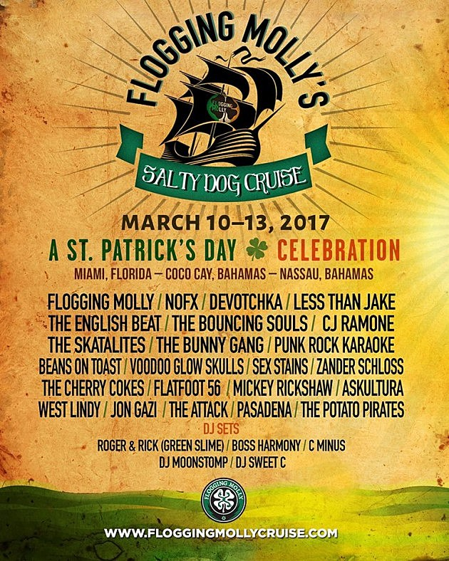 Flogging Molly Cruise 2020.Flogging Molly Announce 2017 St Patrick S Day Cruise With