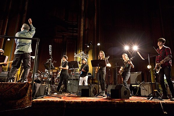 "An orchestra of guitarists performed ""Glenn Branca's Symphonies"" at Masonic Hall (pics)"