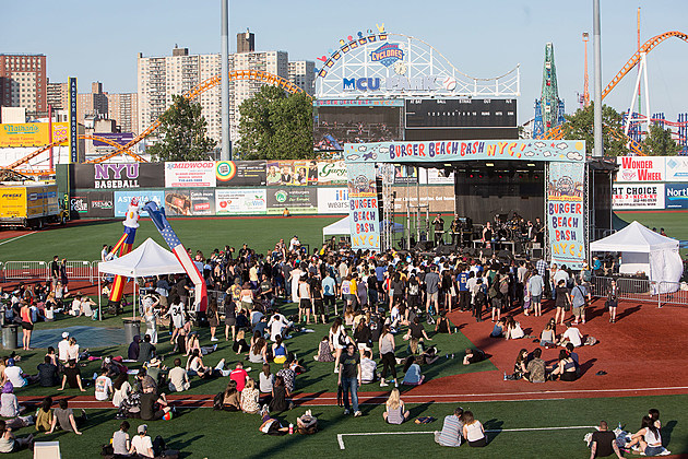 Burger Beach Bash NYC at MCU Park in Coney Island