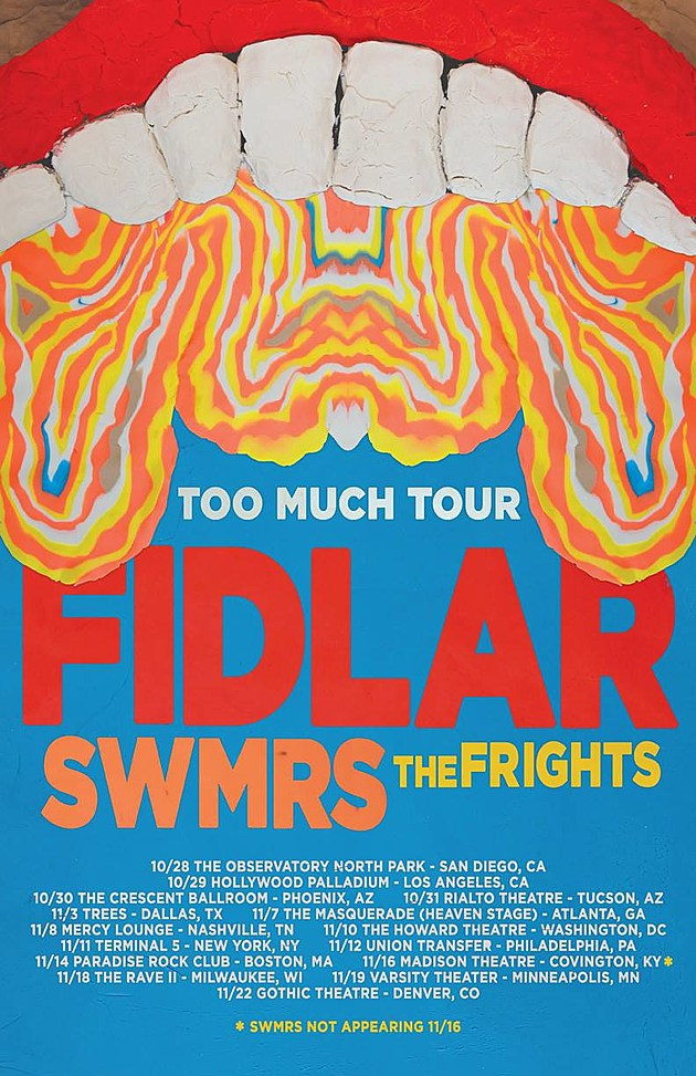 """Cheap Tickets Concert >> FIDLAR made """"Punks"""" video w/ help from The Flaming Lips, touring w/ SWMRS & The Frights"""