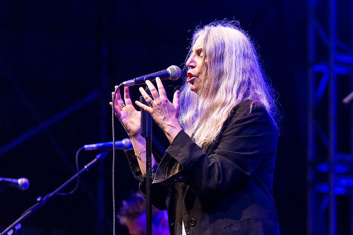 Patti Smith and Mariachi Flor de Toloache at Lincoln Center Out of Doors on July 20th 2016.