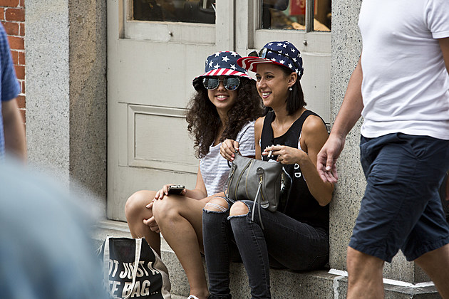 Fans at Festival of Independence at South Street Seaport, NYC