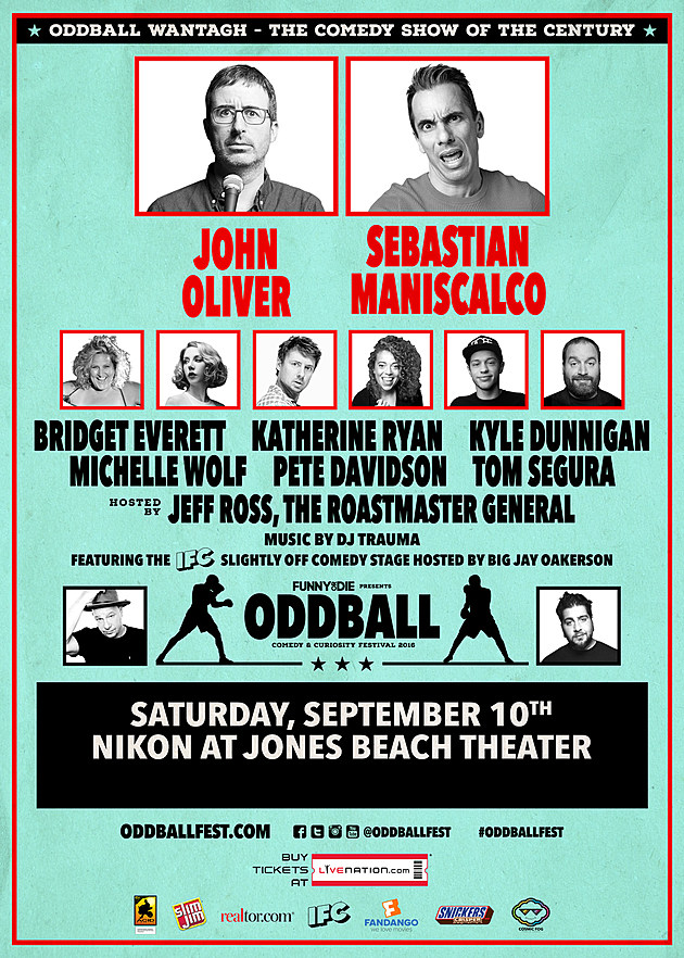 Oddball Comedy Tour Lineup Jones Beach