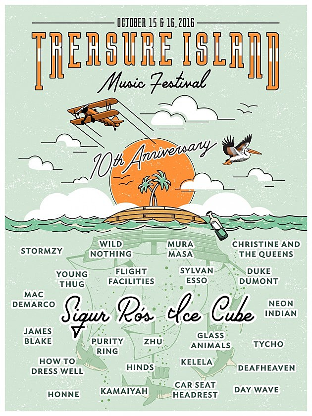 Treasure_Island_Music_Festival_2016 - Lineup Poster
