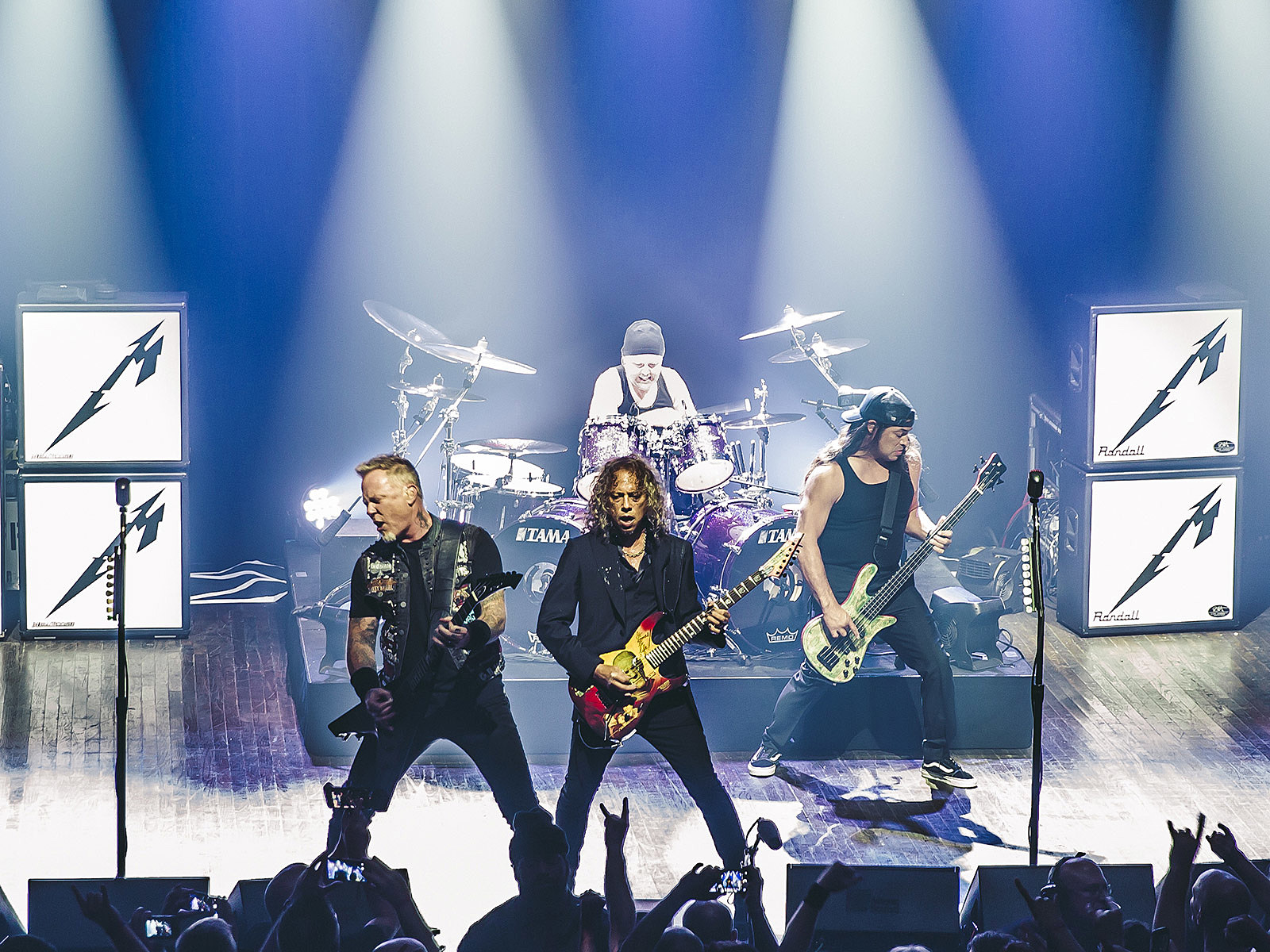 Metallica debuted videos for every song on their new album, are back on Napster