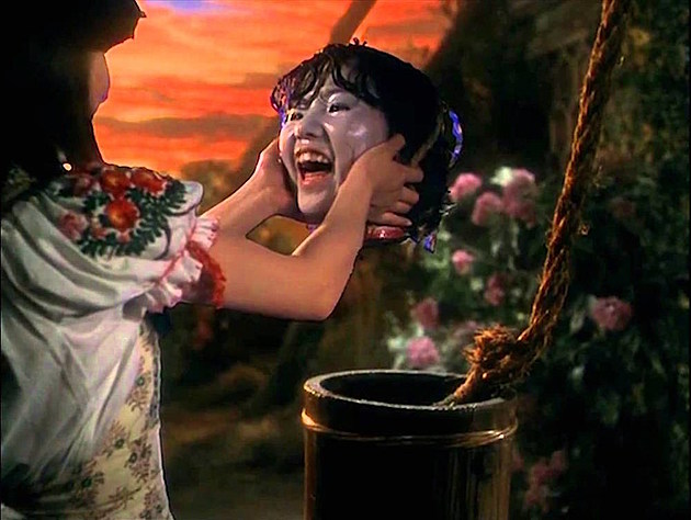 One of the many weird scenes in 'Hausu'