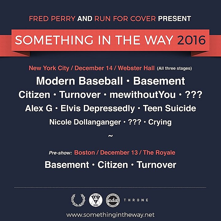 Modern Baseball mewithoutYou Run for Cover