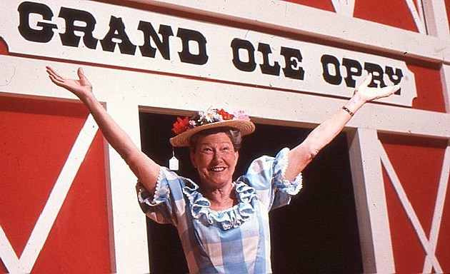 Minnie Pearl at the Grand Ole Opry back in the day