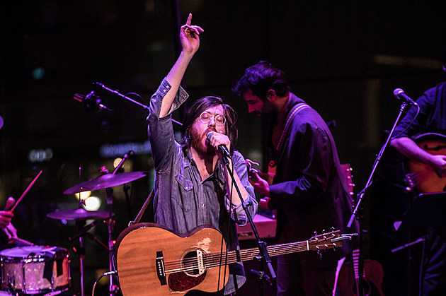 Okkervil River at Lincoln Center in 2017 (more by Sachyn Mital)