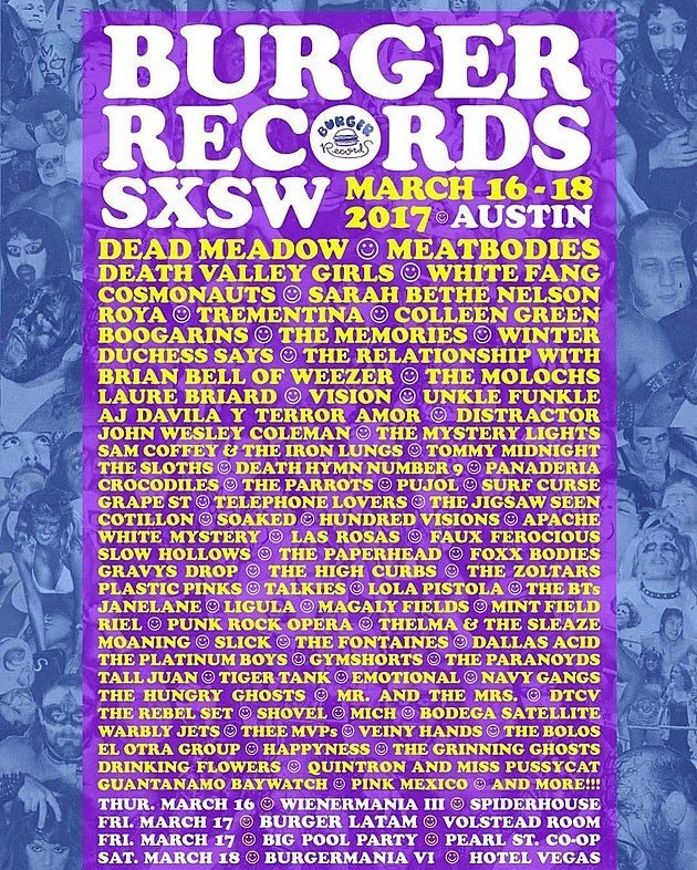 Burger Records throwing four parties/shows during SXSW (lineups)