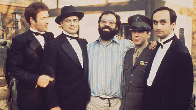 Francis Ford Coppola and the cast of 'The Godfather.'