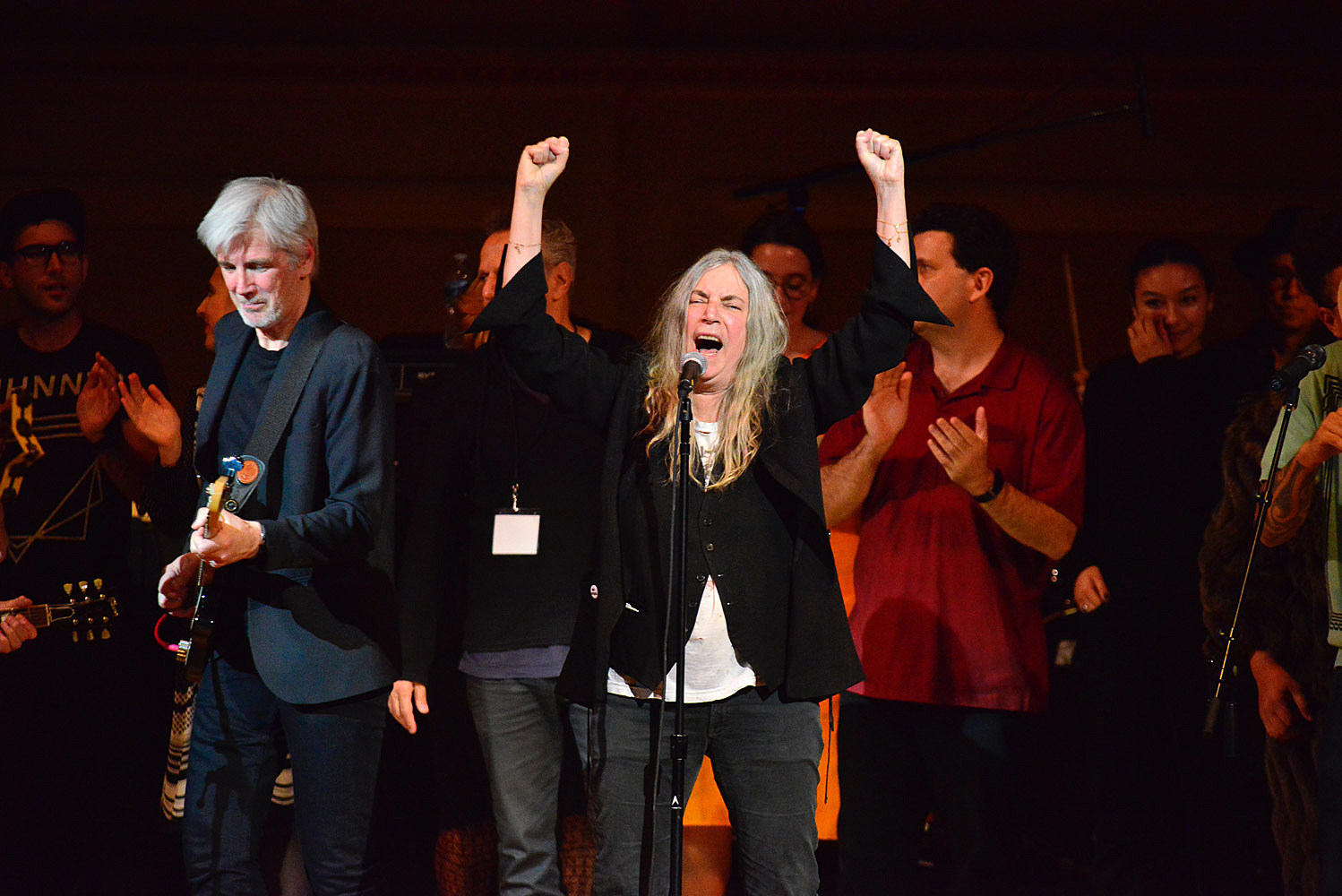 Patti Smith at the Tibet House Benefit at Carnegie Hall