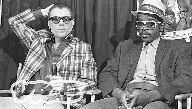 O'Brien with Fab 5 Freddy on 'TV Party'