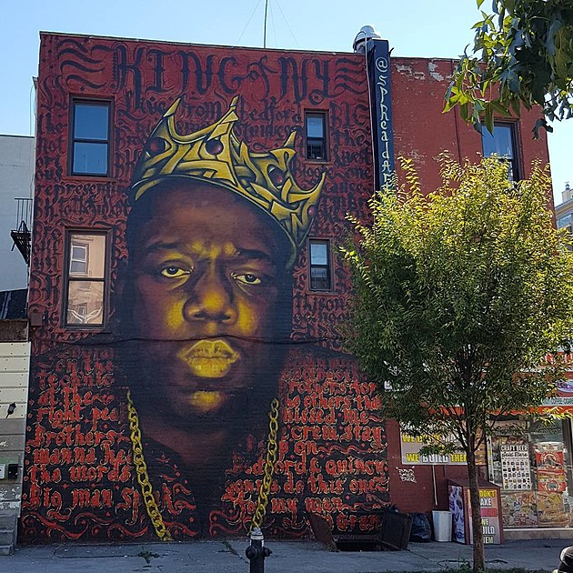 Biggie mural in bed stuy to be destroyed for Biggie smalls mural brooklyn