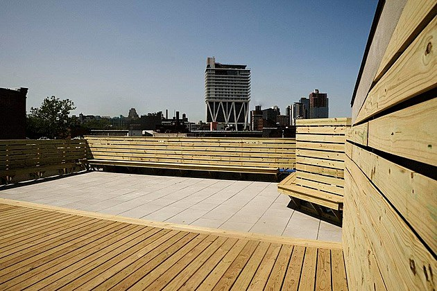The rooftop at Dobbin St.