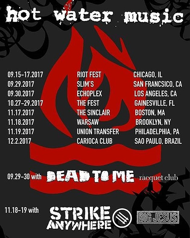 Hot Water Music Tour Dates