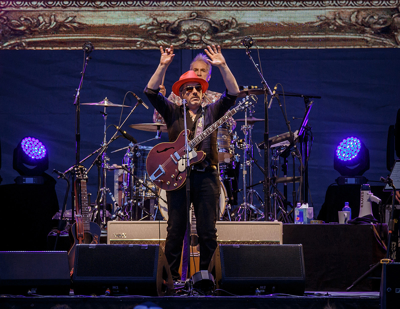 Elvis Costello and The Imposters at Huntington Bank Pavilion