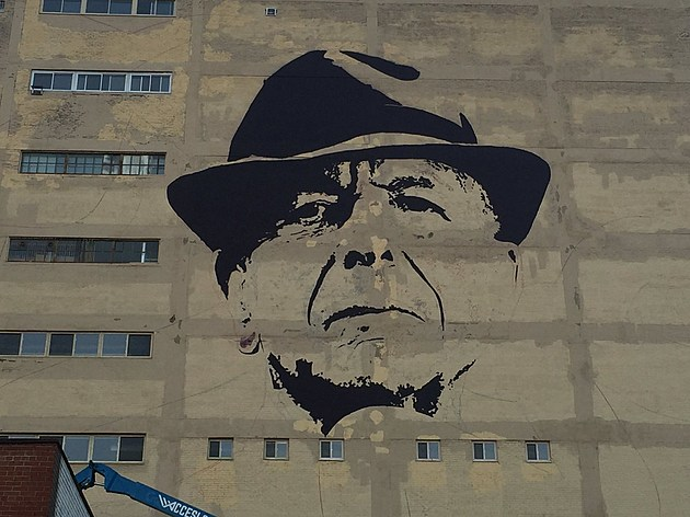 2 Giant Leonard Cohen Murals Appear In Montreal Where An Lc
