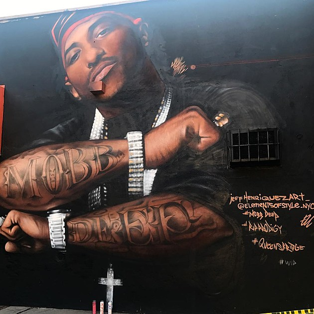 Mobb deep s prodigy honored with mural in queensbridge for Nas mural queensbridge