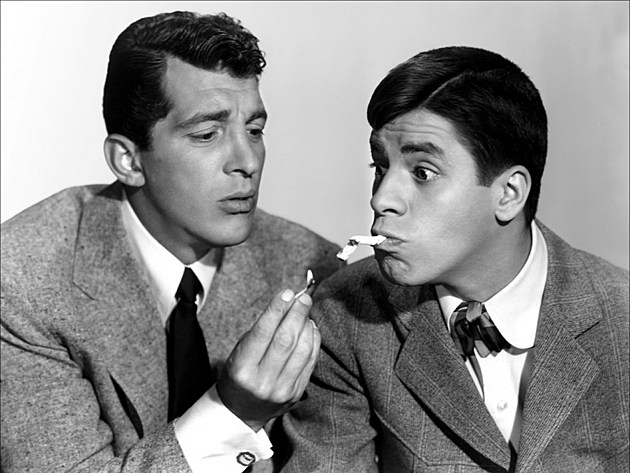 Lewis (left) with comedy partner Dean Martin