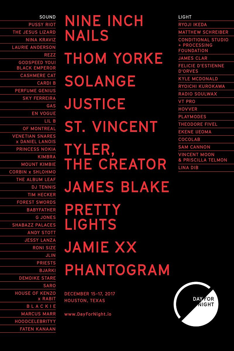 Day for Night 2017 lineup: Nine Inch Nails, Solange, Thom Yorke ...