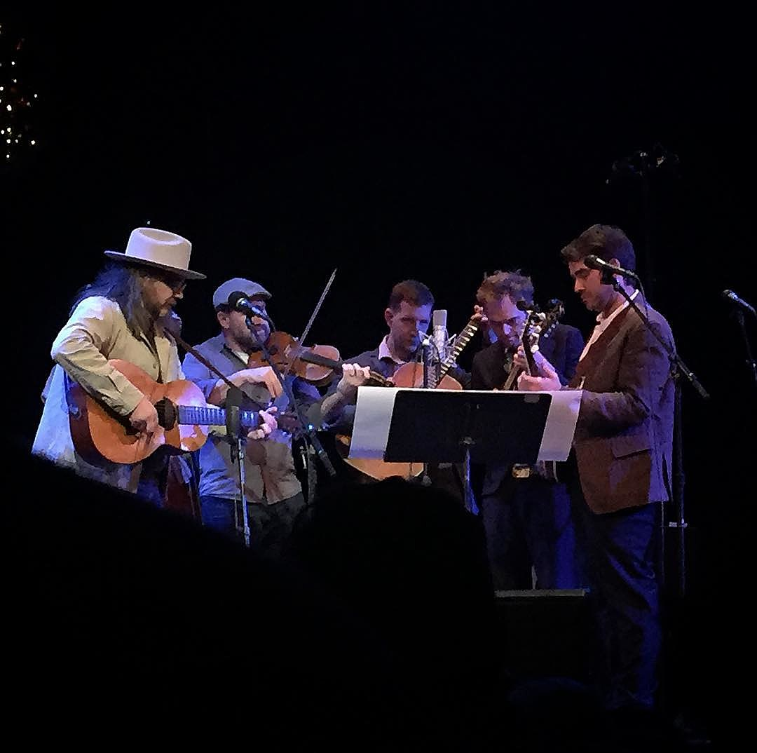 Jeff Tweedy and Punch Brothers on the first 'Live From Here' (photo by @workwithoutapplause)