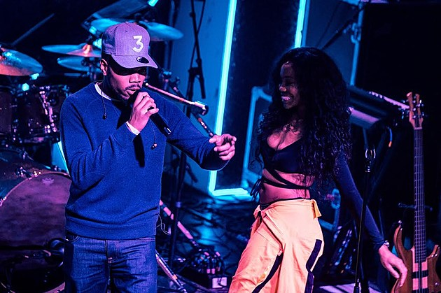 SZA and Chance the Rapper at Irving Plaza