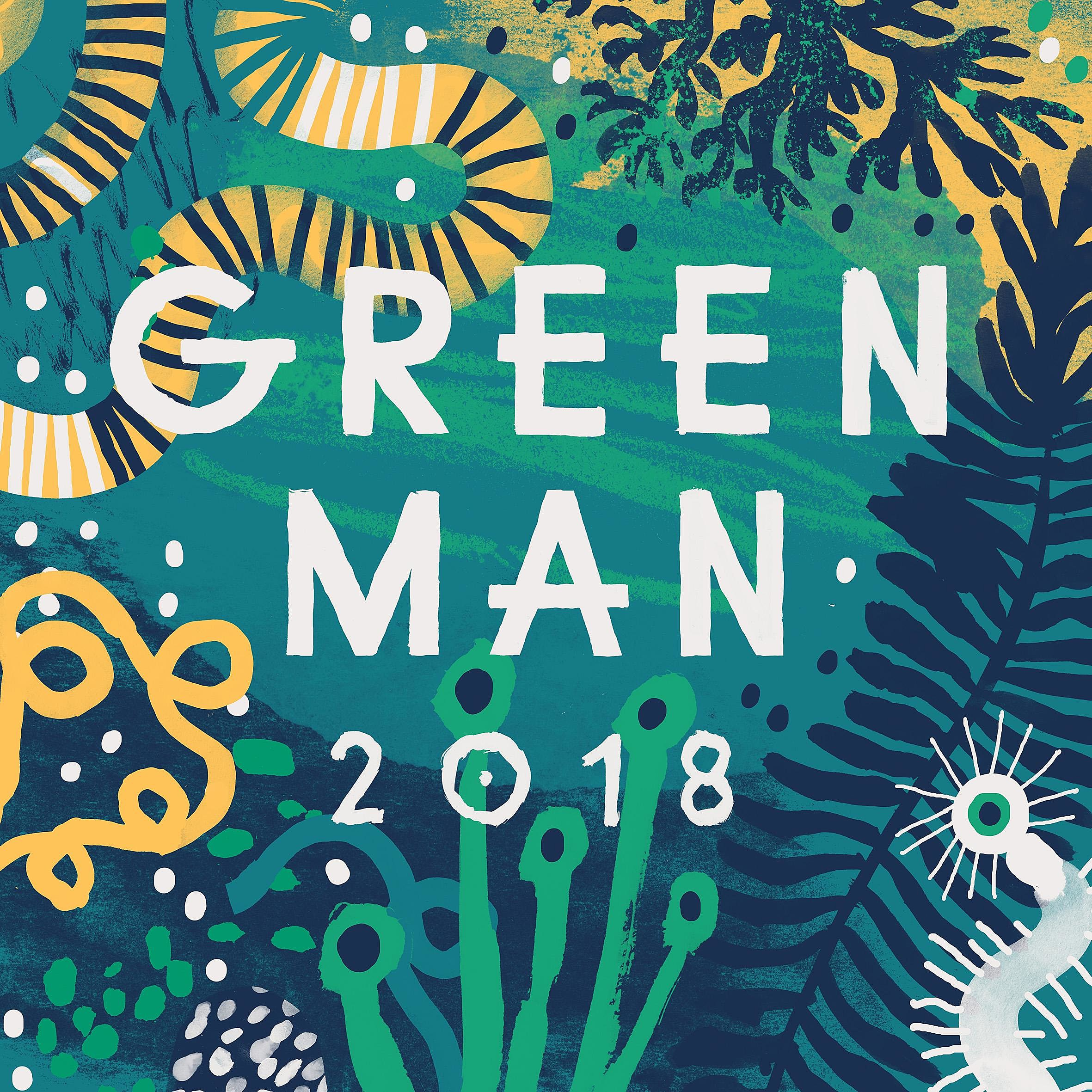 Green Man Festival 2018 logo colour