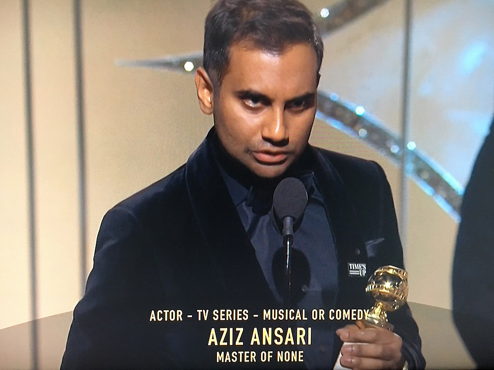 What the [Bleep] Did Aziz Ansari Say in His Golden Globes Speech?