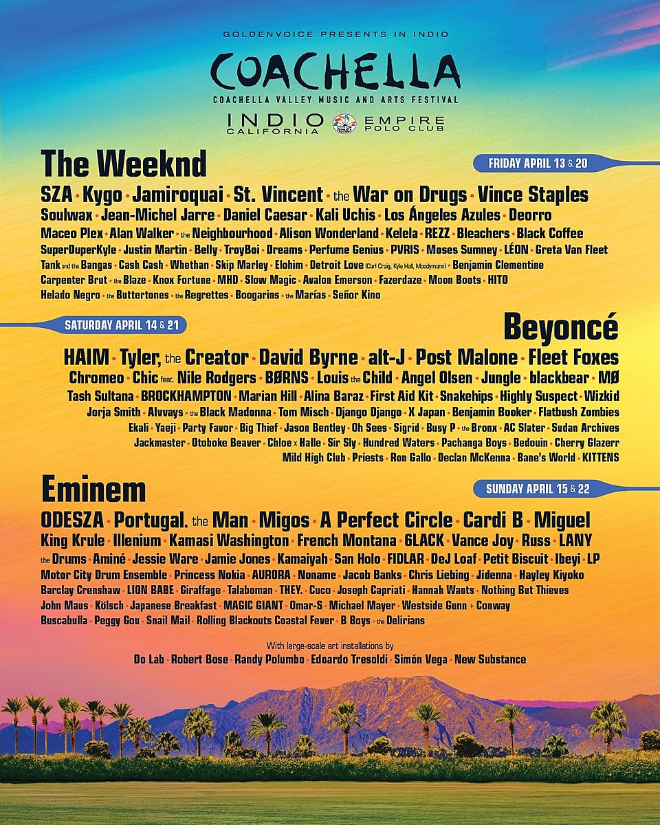 Coachella 2018 Lineup Announced