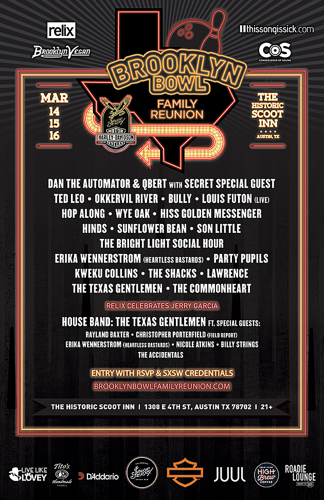 Brooklyn Bowl Family Reunion flyer