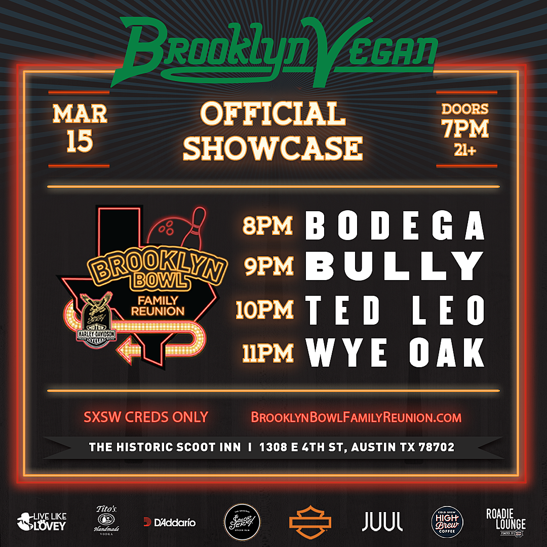 BV SXSW 2018 official show flyer