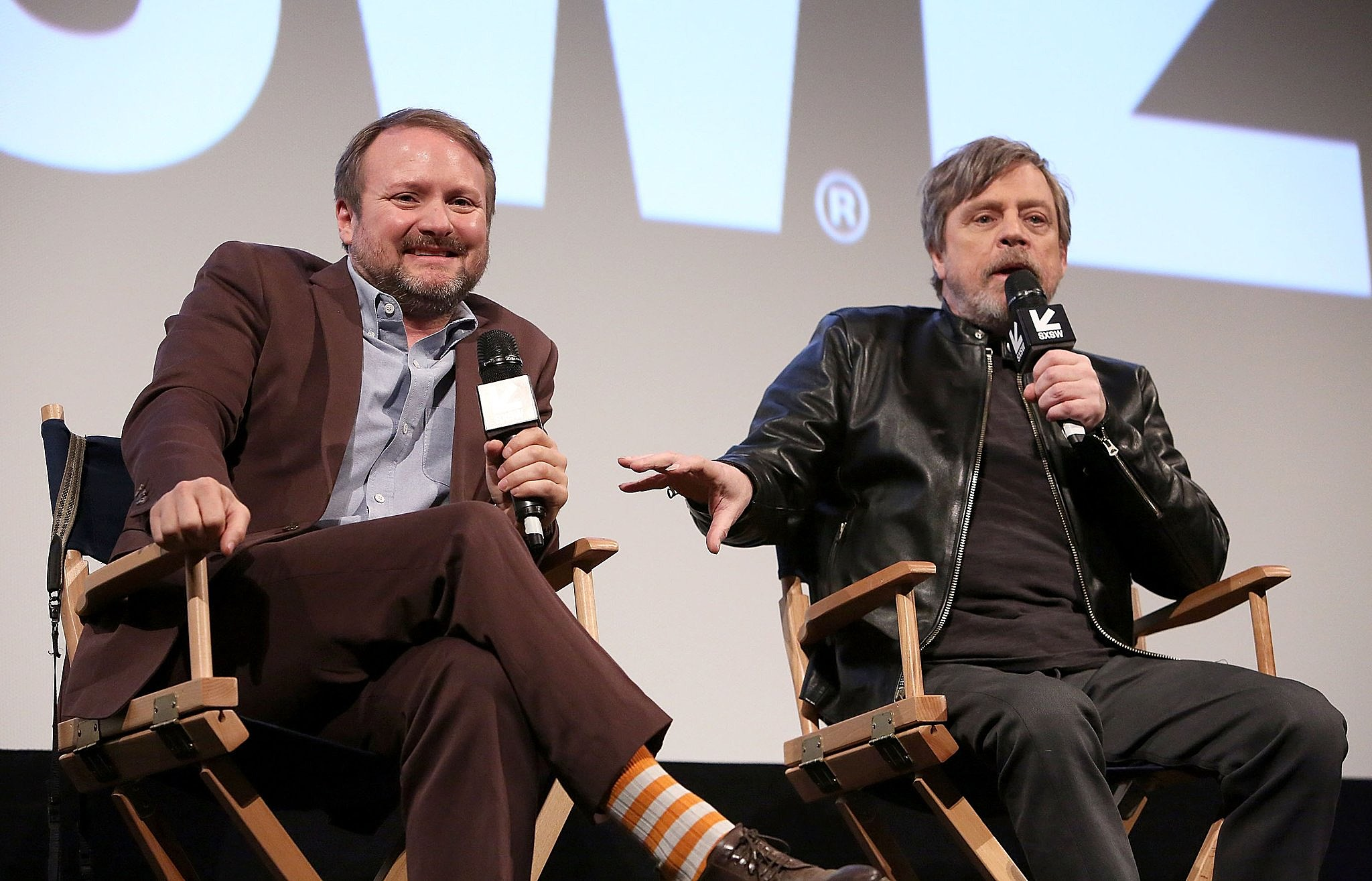Rian Johnson and Mark Hamill @ SXSW (via @starwars)
