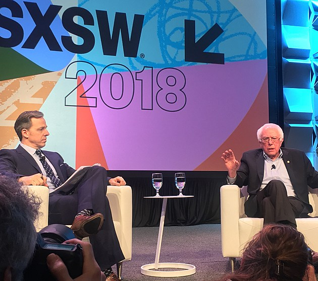 Bernie Sanders and Jake Tapper at SXSW