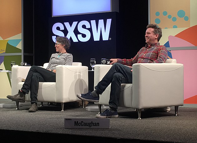 Superchunk's Laura Ballance and Mac McCaughan