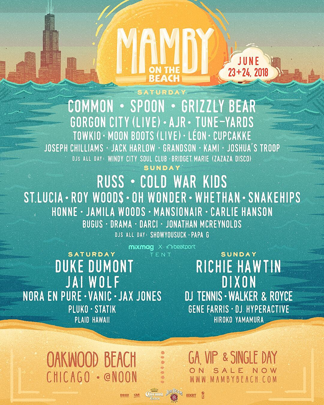 Mamby On The Beach 2018 lineup
