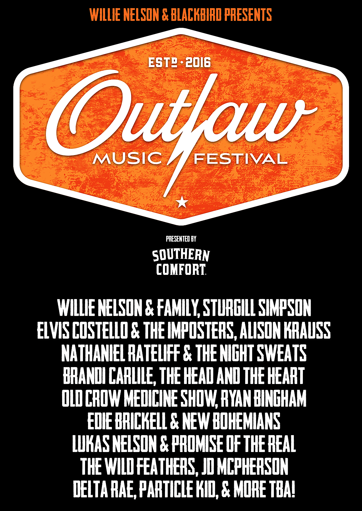 Outlaw Music Festival 2018 Lineup