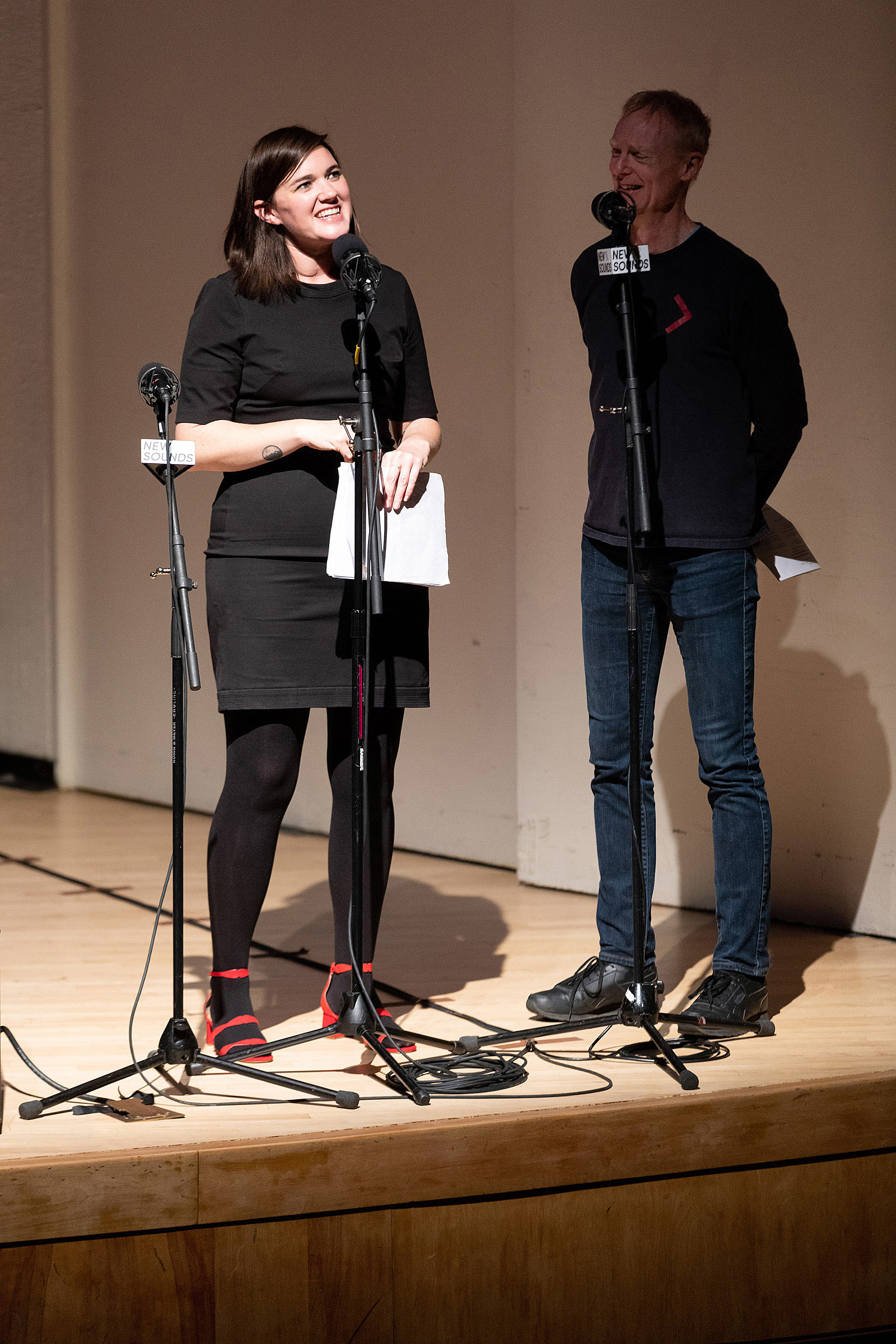 Jon Schaefer and Juliana Barwick at Ecstatic Music Festival 2018 (more by David Andrako)