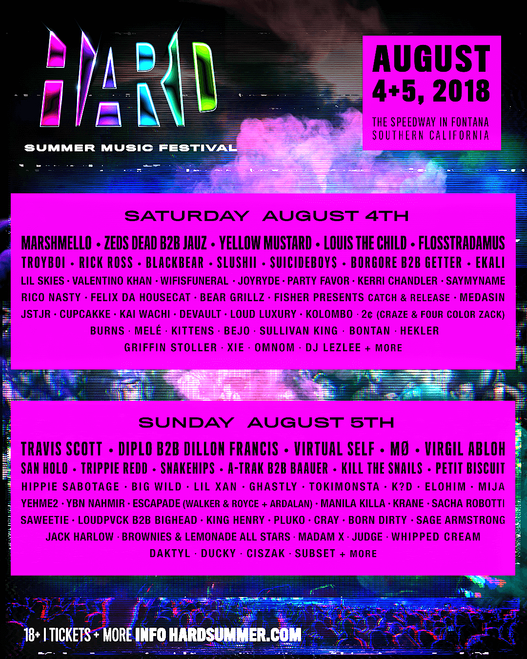 Image result for hard summer lineup